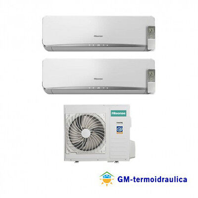 Condizionatore Climatizzatore DUAL SPLIT INVERTER HISENSE 9000+9000 9+9 BTU usato  Acquaformosa