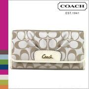 Coach Khaki Gold Wallet