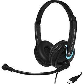 New ANDREA EDU-255 USB Headphones and mic