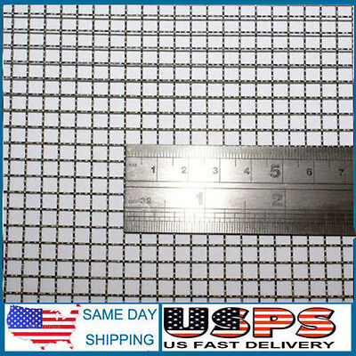 Woven Wire 5 Mesh - 12x24 Size - 4.5mm Hole - 0.7mm Wire- Stainless Steel 304l