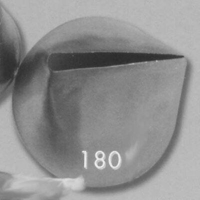 Ateco Pastry Tube, Large Rose Leaf (X-large), St Steel ()