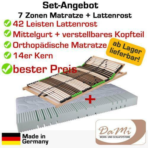 matratze 140x200 lattenrost ebay. Black Bedroom Furniture Sets. Home Design Ideas