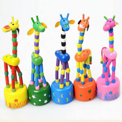 Giraffe Baby Toy - Funny Baby Kids Intellectual Developmental Educational Wooden Giraffe Toy Gift