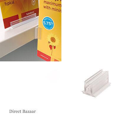 20 x Self Adehsive SuperGrip Card Holders / 2.5cm x 1.3cm