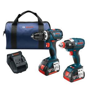 Bosch-CLPK251-181-18V-Li-Ion-4-0Ah-EC-Brushless-Impact-Driver-amp-Drill-Driver-Kit