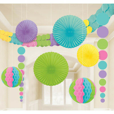 PASTEL DELUXE ROOM DECORATING KIT (9pc) ~ Wedding Birthday Party Supplies -