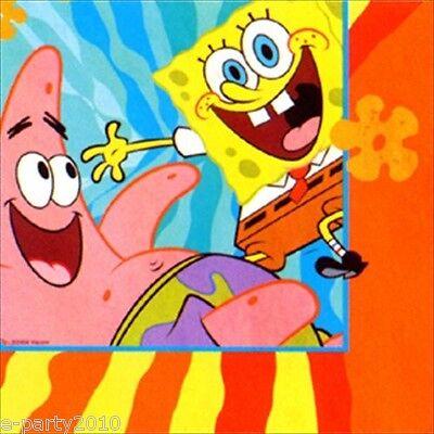 SPONGEBOB SQUAREPANTS BUDDIES LUNCH NAPKINS (16) ~ Birthday Party Supplies Large Spongebob Squarepants Birthday Party Supplies
