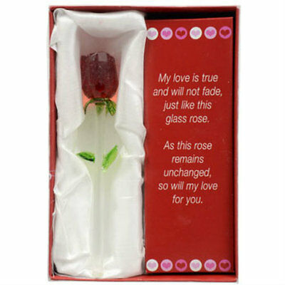 New Forever Glass Rose Valentines Day Perfect Gift Say I Love You -FREE SHIPPING