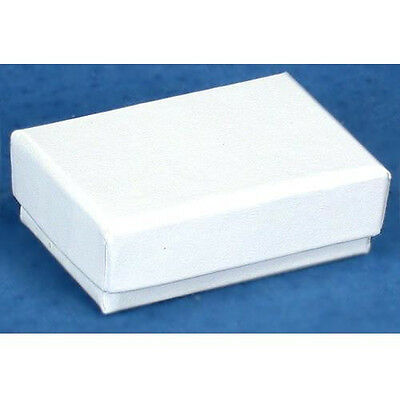 40 White Cotton Filled Jewelry Craft Gift Boxes 3x2
