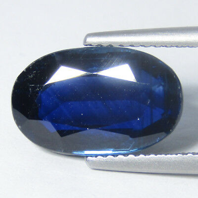 5.18Cts Ravishing Natural Blue kyanite 13.8x8.5mm Oval Loose Gemstone Ref VDO
