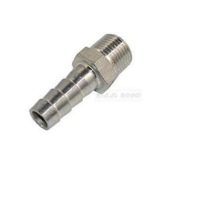 Npt 14 Male Thread Pipe Fitting X 8mm Barb Hose Tail Connector Stainless Steel