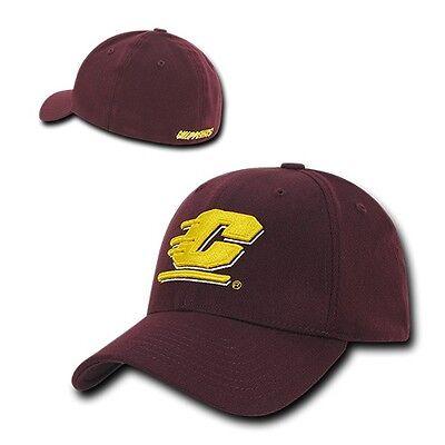 Central Michigan University CMU Chippewas NCAA Flex Baseball Fitted Fit Cap Hat  Central Michigan University Baseball