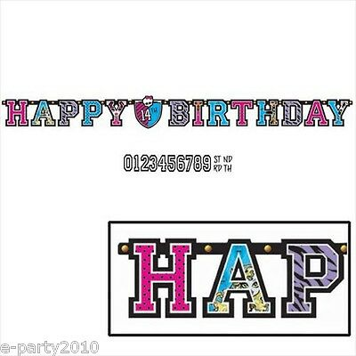 MONSTER HIGH JUMBO LETTER BIRTHDAY BANNER KIT ~ Party Supplies Room Decorations