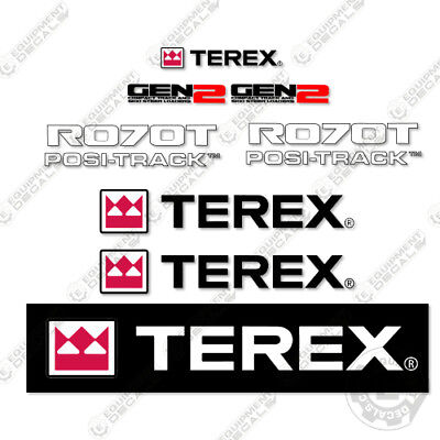 Terex R070t Decal Kit Skid Steer