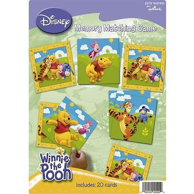 (DISNEY Winnie the Pooh Memory Matching Game 20 cards Birthday Kids Party)