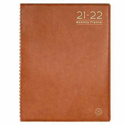 Faux Leather 2021 Agenda Planner Organizer Monthly Calendar Tabs Schedule Book