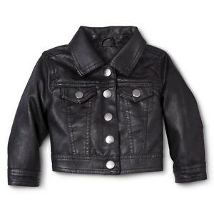 Faux leather jacket for toddler