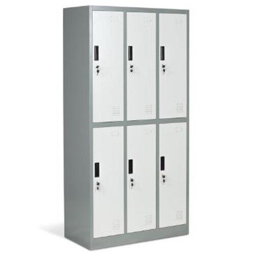 Armadietto metallico ufficio armadio spogliatoio in metallo 6 ante con serratura