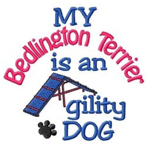 My Bedlington Terrier is An Agility Dog Short-Sleeved Tee - DC1938L