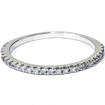 15 ct Diamond Wedding Ring White Gold Stackable Band
