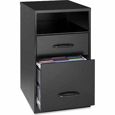 Metal File Cabinet 2 Drawer Vertical Steel Filing Home Office Black Shelf