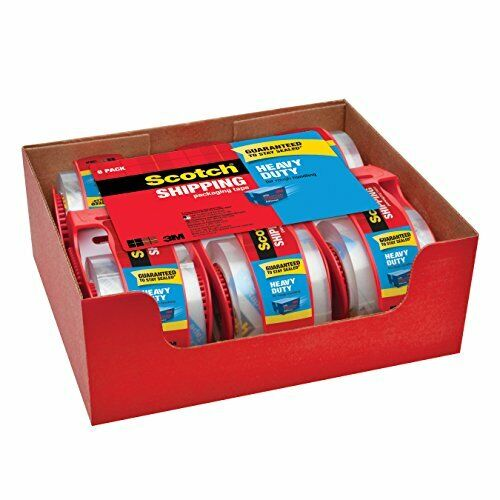 """Scotch Clear Shipping Packing Tape 1.88x800"""" w/Dispenser Heavy Duty Pick Yours"""