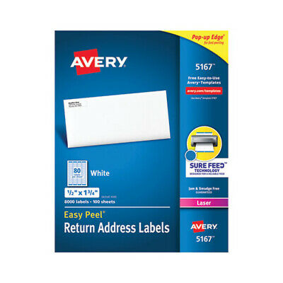 Avery Easy Peel White Address Labels W Sure Feed Technology - Ave5167