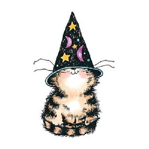 PENNY-BLACK-RUBBER-STAMPS-KITTY-WITCH-HALLOWEEN-STAMP