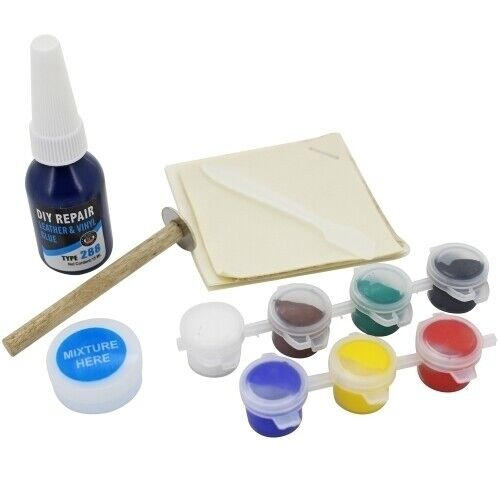 Visbella DIY Leather and Vinyl Repair Kit Fix Holes Rips ...