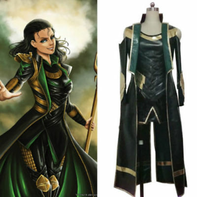 Thor The Dark World Loki Cosplay costume Carnaval Halloween uniform Custom{34} (Thor Loki Halloween Costume)