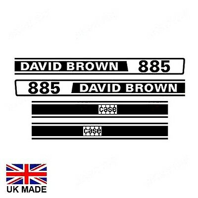 Decal Set For David Brown 885 Tractors