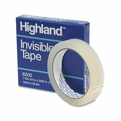Highland Invisible Tape - 0.75 Width X 72 Yd Length - 1 Core - Writable