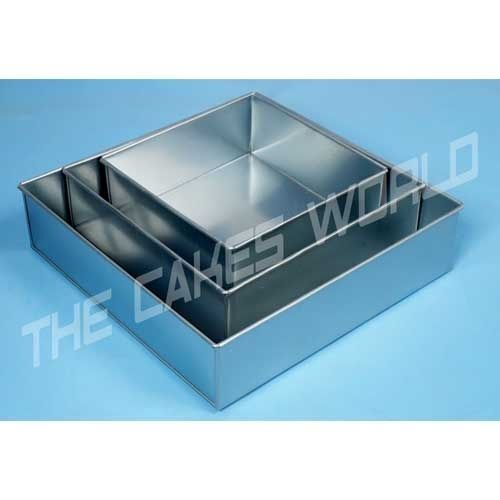 rectangle wedding cake pans 3 tier square shape wedding anniversary birthday cake tin 19058