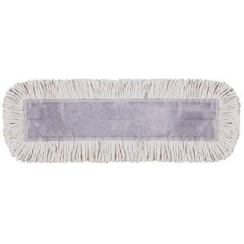 """(One) Wilen Tie-Free Disposable Natural Commercial Dust Mop Pad 24"""" x 5"""""""