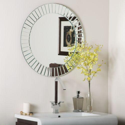 Frameless Beveled Bathroom Mirror Ebay