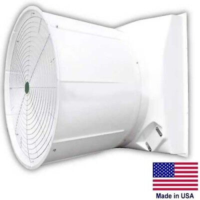 55 Fiberglass Exhaust Fan - 30000 Cfm - 208-230460v - 2hp - Belt Driven - 3ph
