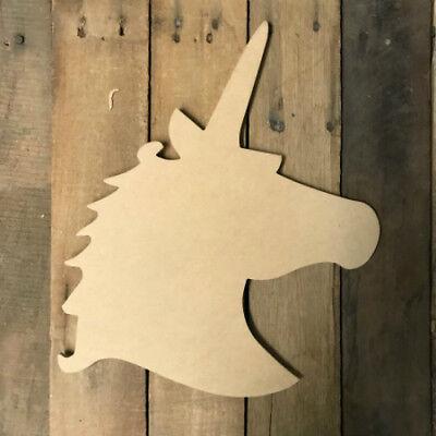 Wooden Unicorn Cutout, Wood Shape, Wall Art Shape, Paintable Wall - Unicorn Cutout