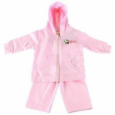 Hello Kitty Organic Baby Girls Pink Hoodie Pants Tracksuit Outfit 0-3mo $72 NWT