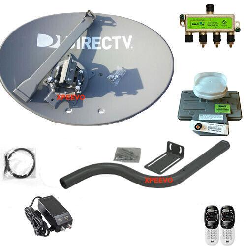New Directv /at&t Swm Satellite & Reverse Band 4k Lnb/4 Way! (complete Setup)