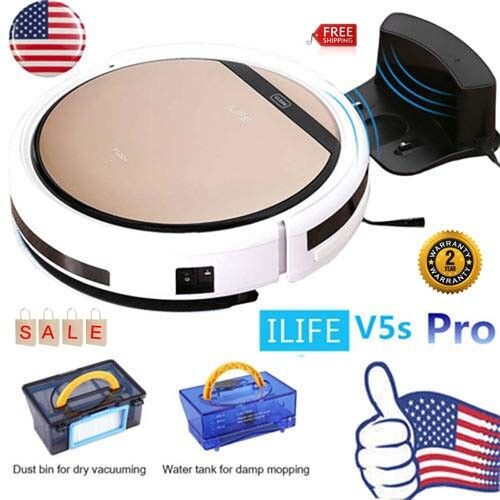 ILIFE V5S Pro Smart Robotic Vacuum Cleaner Auto Microfiber D
