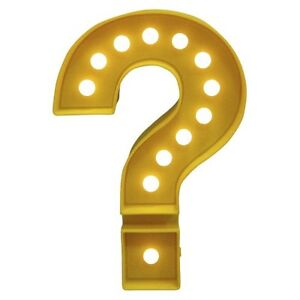 Room Essentials Marquee Question Mark Small