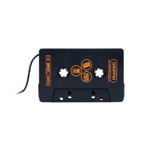 NEW GRIFFIN UNIVERSAL DIRECT DECK CASSETTE ADAPTER BLACK FOR MP3 IPOD GC17041