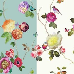 Neuf arthouse charmed motif fleur oiseau papillon rose for Arthouse jardin wallpaper