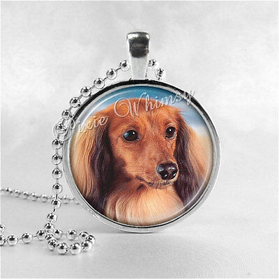 DACHSHUND Necklace, Long Haired Dachshund, Dog Breed Necklace, Doxie, Dachshund