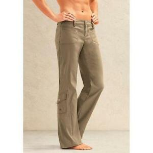 Awesome Athleta Khaki Hiking Walking Pants 6 Petite 109693 Dipper Wide Leg