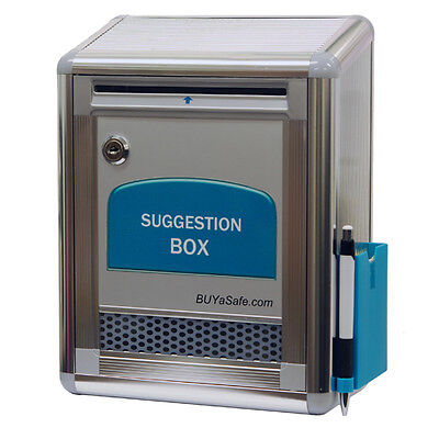 G-b09 Aluminum Suggestion Box Ballot Drop Box Letter Box