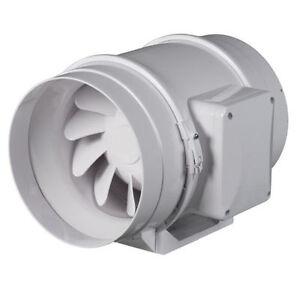 high power in line duct shower bathroom wet room hydroponics extractor fan