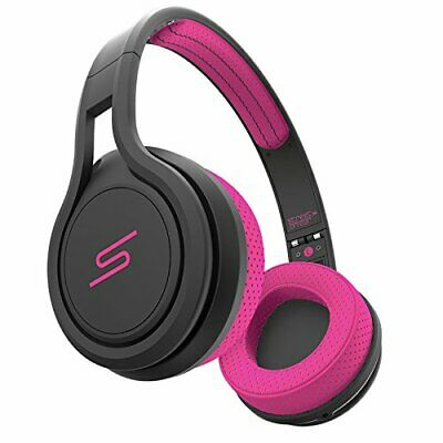 SMS Audio Street by 50 Wired On-Ear Sport Headphones with 3-Click Mic, Pink (Sms Audio Street By 50 On Ear)