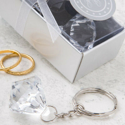 Engagement Ring Party Favors (1 diamond engagement ring key chain favors wedding Bridal Shower party favor )