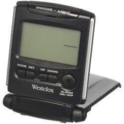 Westclox Travelmate Compact Folding Travel Alarm Clock, 1/2 Digital,LCD Display